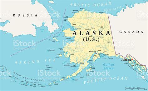 us political map alaska alaska political map stock vector 469997178 istock