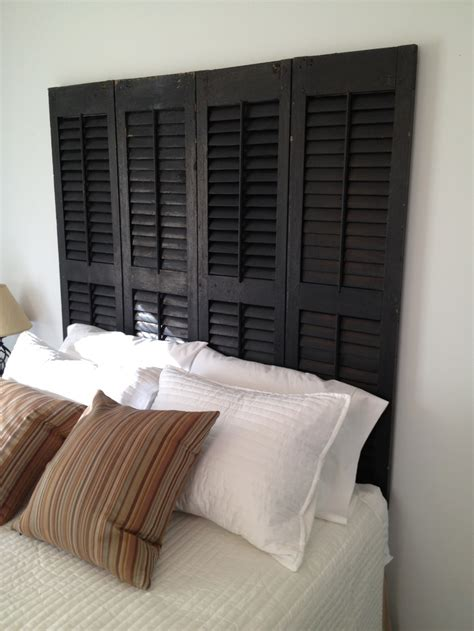 shutter bed 16 modern and chic diy headboard ideas that are actually