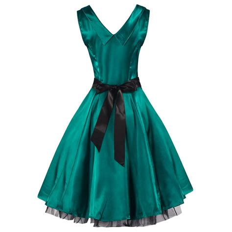 satin swing dress 50s green satin swing dress pretty kitty fashion