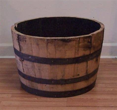 half whiskey barrel planter half oak whiskey barrel for planter water garden coffee