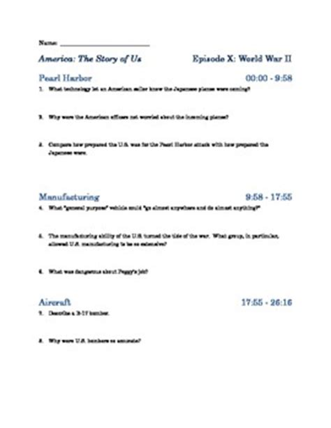 America The Story Of Us Episode 10 Worksheet Answers by America The Story Of Us E By The Chronicler Teachers Pay Teachers