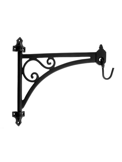 swing arm plant hanger cast iron swing arm plant hanger in natural black