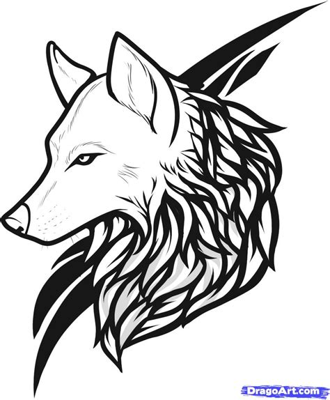tribal wolf head tattoo designs cool tribal and wolf design