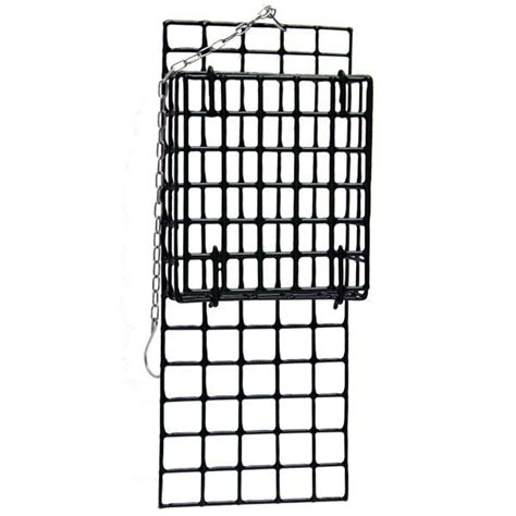 heath cage suet feeder with extended tail prop