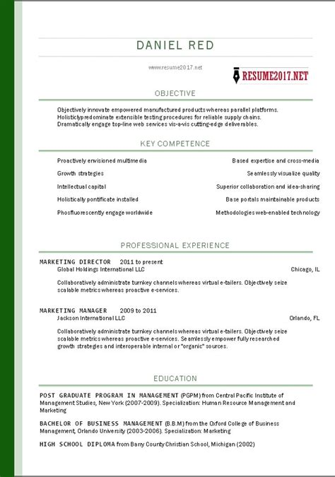 7 free resume templates resume templates for free free
