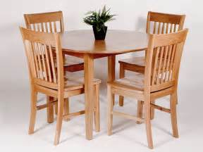 utah oak dining set with round drop leaf table 4 chairs