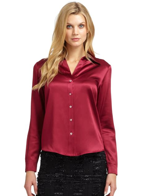 Silk Blouse by Silk Blouse Satin Blouse With