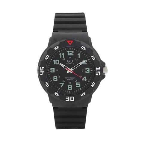 Jam Tangan Q Q Black jual q q vr18j001y sporty jam tangan pria black