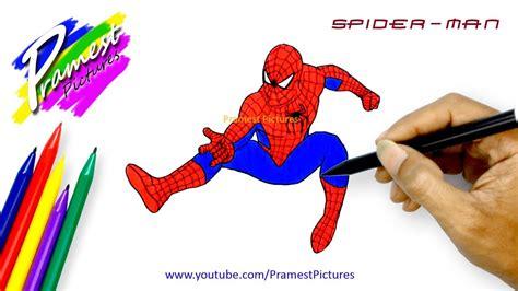 spiderman  menggambar  mewarnai gambar kartun