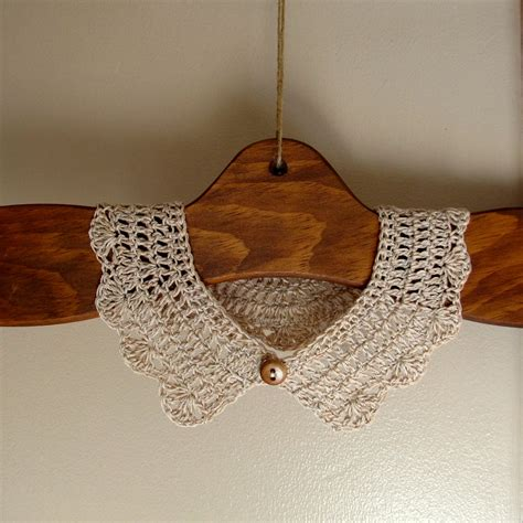pattern crochet lace collar a collection of collars to crochet for tee shirts