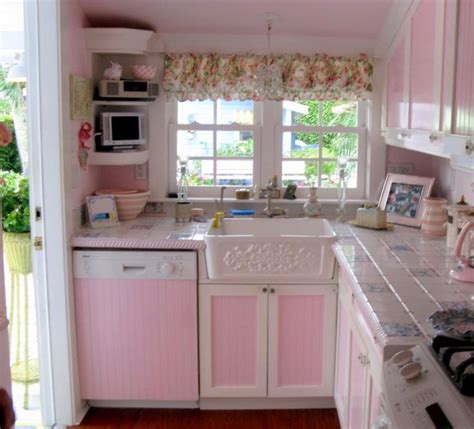 pink kitchens little pink kitchen cocinas lavanderias ba 241 os pinterest
