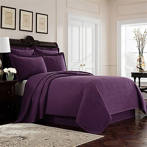 bed bath and beyond richmond buy williamsburg richmond full coverlet in purple from bed