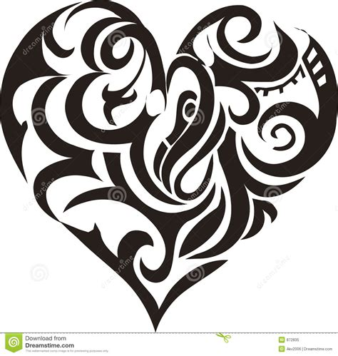 tribal love tattoo designs tribal stock vector illustration of card