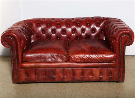 Mahogany Red Leather Chesterfield Sleeper Sofa And Chesterfield Sleeper Sofa
