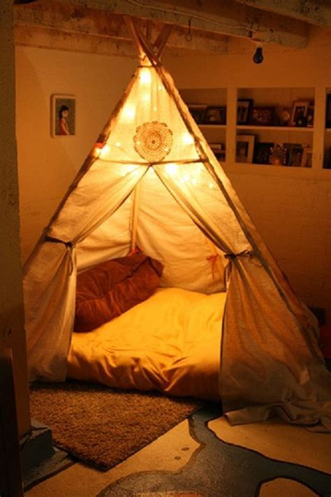 how to make a teepee bed nook teepee