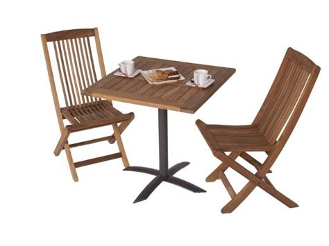 Wooden Patio Table And Chairs Teak Bistro Set Outdoor Furniture Peenmedia