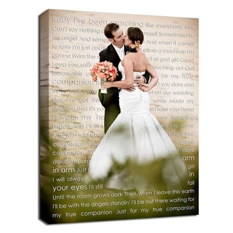 Wedding Song Words by Gift Ideas For Cotton Anniversary Gift Canvas Photo