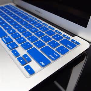 color keyboard protector for macbook 11 blue original100 2 royal blue silicone keyboard cover for macbook air 11 quot