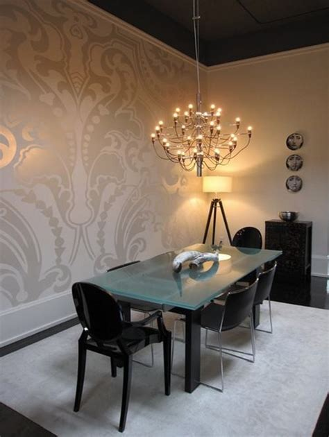 Dining Room Wallpaper by 20 Wallpapers With Metallic Accent Messagenote