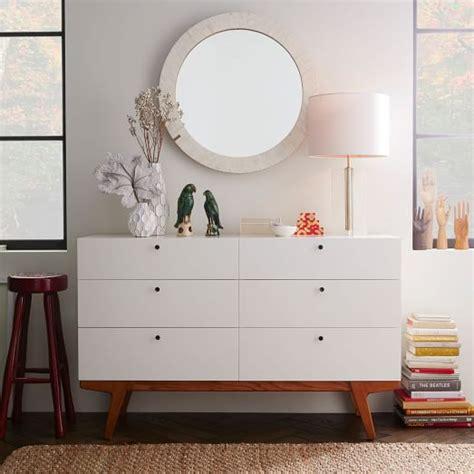 west elm modern white dresser modern 6 drawer dresser west elm