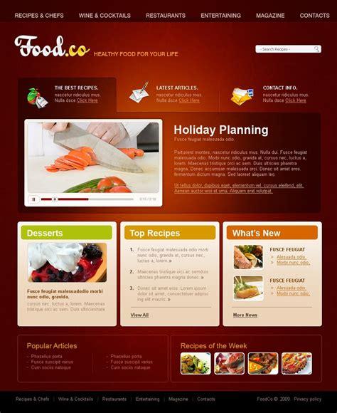 Cooking Website Template 24052 Cooking Website Templates Free