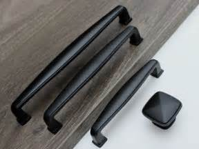 Black Hardware For Kitchen Cabinets Black Kitchen Cabinet Handles Home Furniture Design