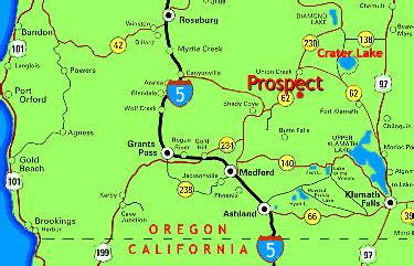 map of highway 97 oregon prospect hotel oregon map and directions