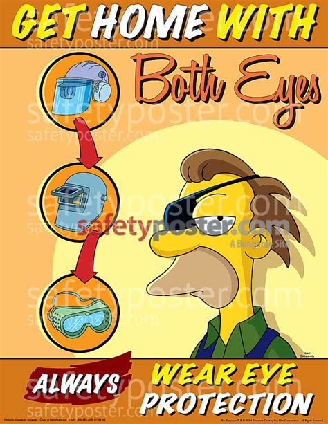 simpsons   get home with both eyes s1166 safety posters