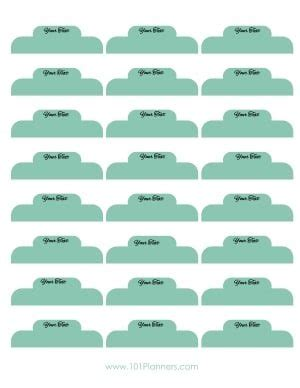 Free Divider Tabs Template Customized Printable Tab Dividers Divider Tabs Template