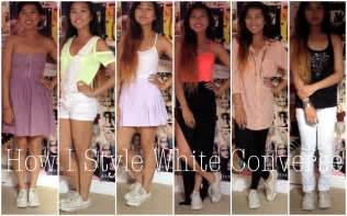 what looks good with red style how i style white converse youtube
