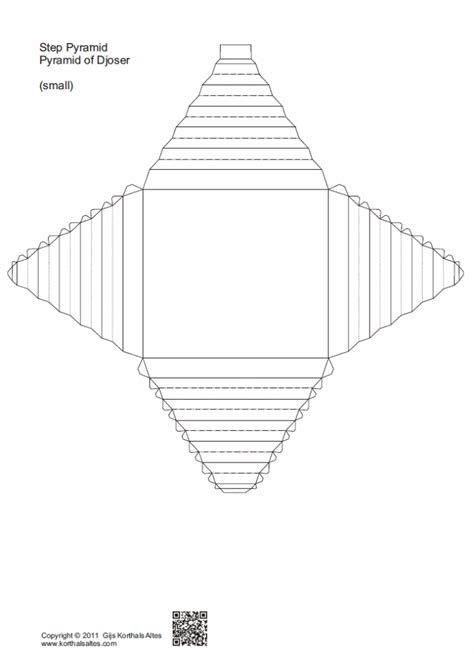 How To Make A Pyramid Out Of Paper - paper model of an oblique truncated pyramid bed mattress