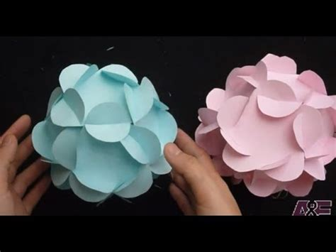 How To Make Flower Paper Balls - extremely easy way to make a 3d paper flower tutorial