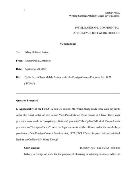 write memo template writing sle attorney client advise memo