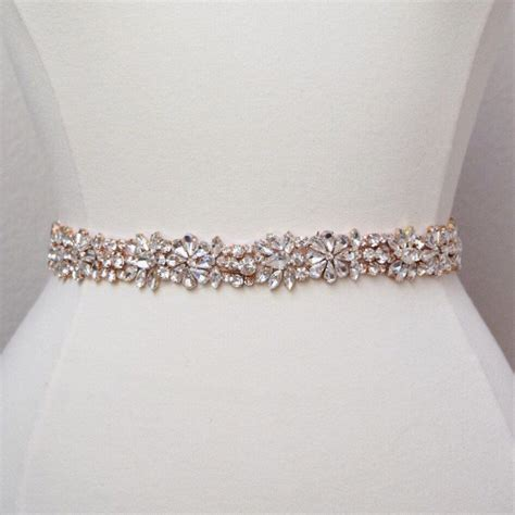Rhinestone Belt length gold rhinestone bridal belt all the way