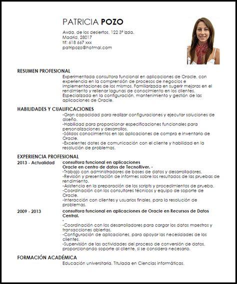 Modelo De Curriculum Vitae Funcional Peru Modelo Curriculum Vitae Consultora Funcional En Aplicaciones De Oracle Livecareer