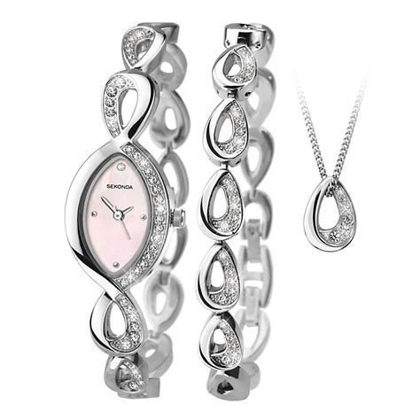 Sekonda Ladies' Matching Watch, Bracelet And Pendant Set