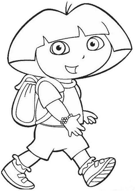 Dora The Explorer Coloring Pages Bestofcoloring Com The Explorer Coloring Pages