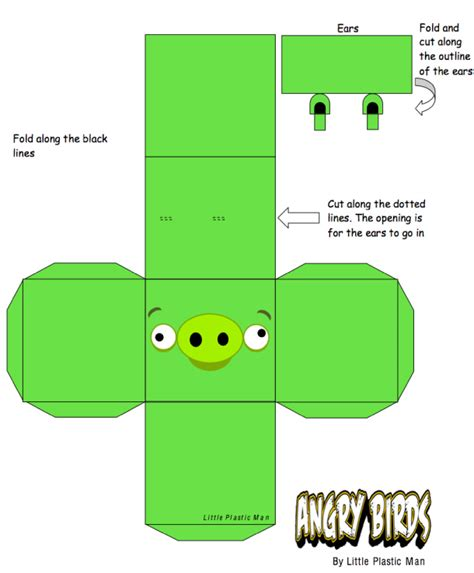 angry bird pig template angry birds cubeecraft template