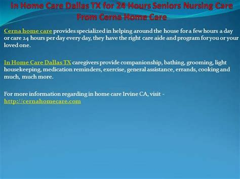 in home care dallas tx for 24 hours seniors nursing care