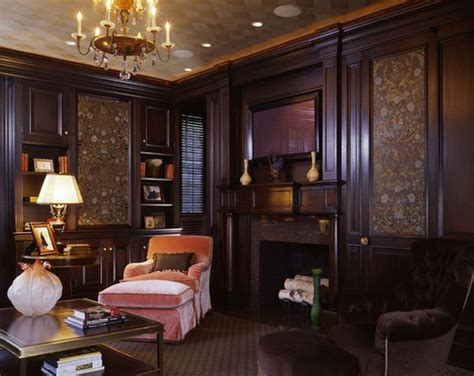 living room with wood paneling traditional living room decorating ideas