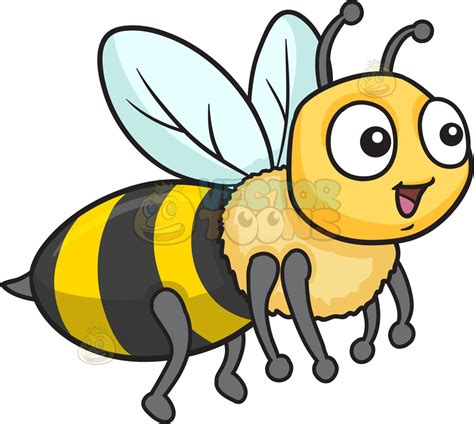 bee clipart a bee fawning in delight clipart vector
