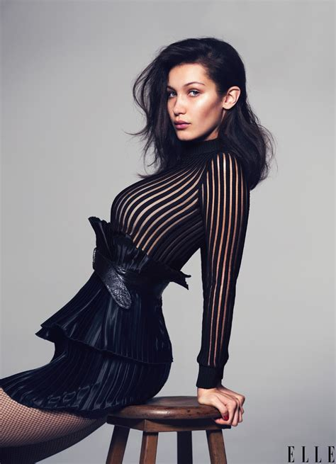 Bella Hadid Rocks Sexy Looks for ELLE
