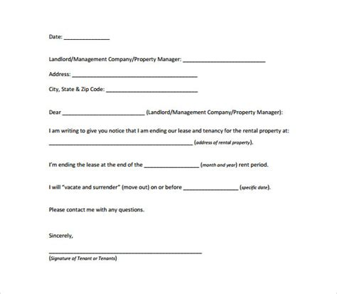 30 day notice letter sle 30 day notice letter templates 7 free