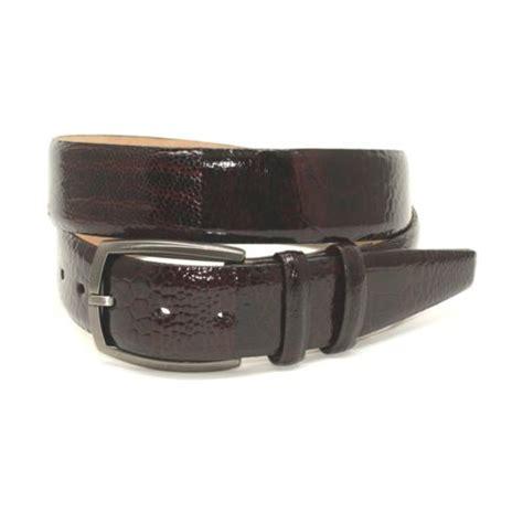 torino leather genuine ostrich leg belt brown