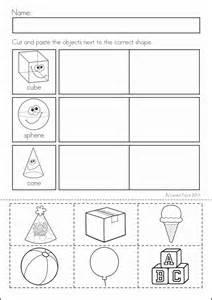cutting shapes worksheets for kindergarten shapes