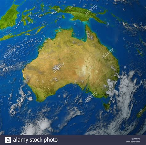 australia continent map australia realistic map of the continent of oceana in the