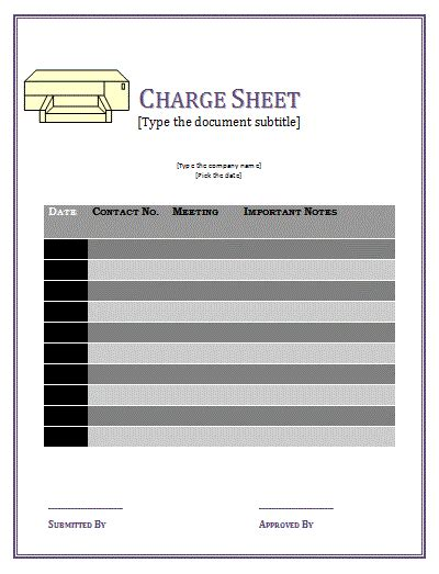 How To Look Up Criminal Charges Charge Sheet Template Free Sheet Templates