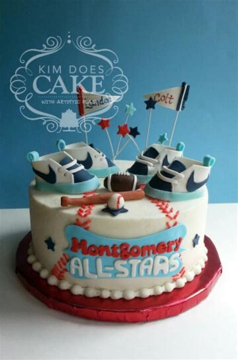 Sports Theme Baby Shower Cake by Sports Baby Shower Cake Cakecentral