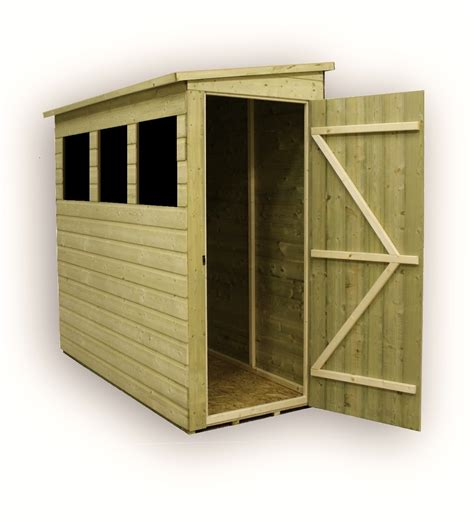 8 X 3 Shed 8 X 3 Pressure Treated Tongue And Groove Pent Shed