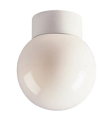 firstlight 100w opal glass sphere ceiling light with